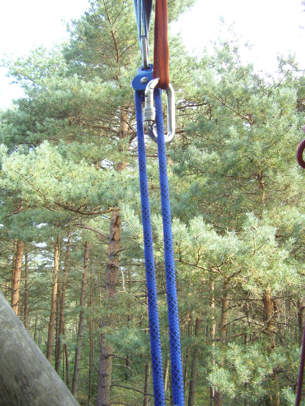 Ankerpunkt mit Seilrolle