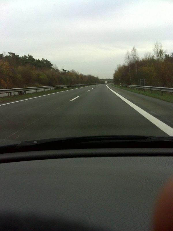 Snap-Schuss auf der Autobahn...