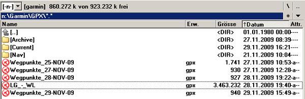 Eigene Wegpunkte werden in GPX-Dateien abgelegt...