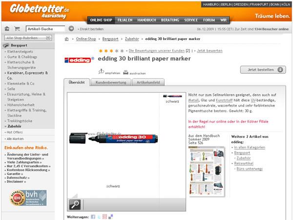 edding 30 im Webshop von Globetrotter