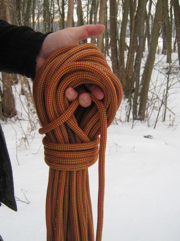 Seil abbinden (Schritt 1)