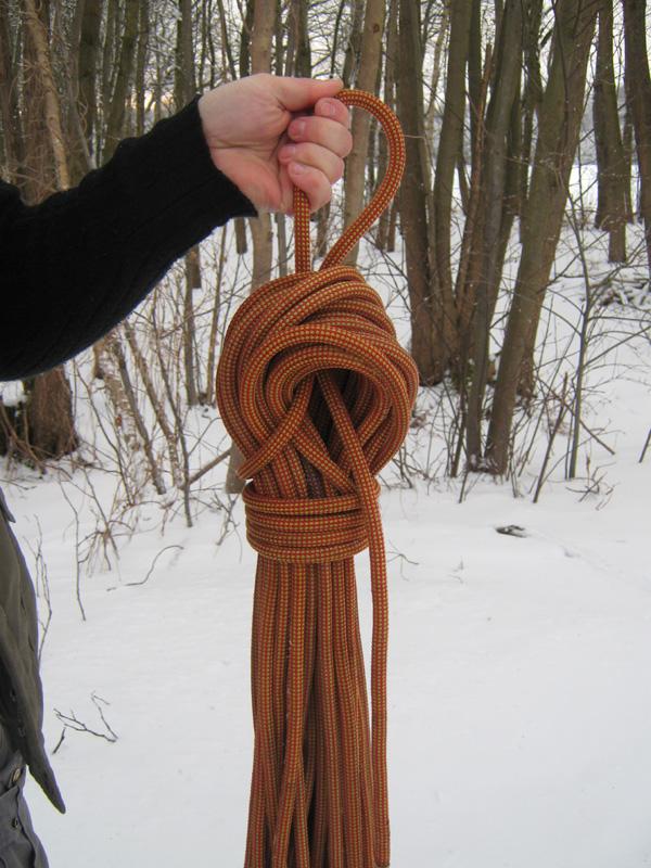 Seil abbinden (Schritt 2)