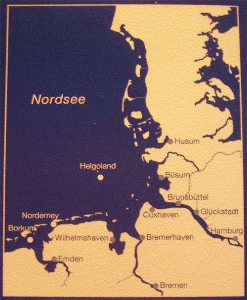 Hoch- und Niedrigwasserzeiten für die Deutsche Bucht und deren Flussgebiete