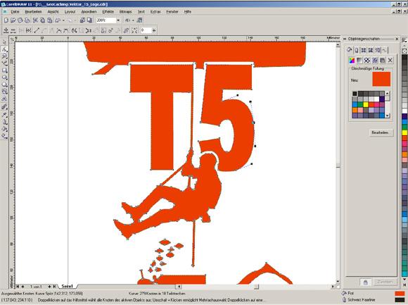 Schritt 1 - Erstellung des Logos am PC...